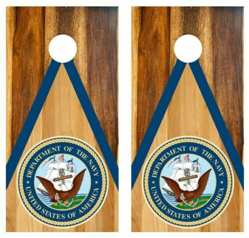 United States Navy Two Tone Wood Cornhole Board Wraps FREE SQUEEGEE #3153