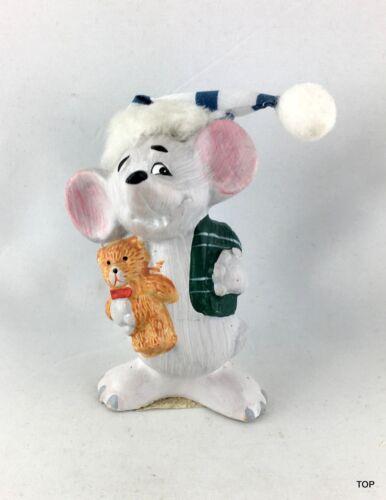 Maus Gute Nacht Mäuschen mit Mütze Keramik 3 Motive 8,5 cm