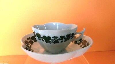 voller grüner Weinkranz Meissen Kaffeetasse,Tasse Weinlaub