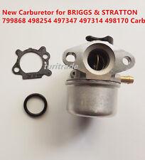 New Carburetor for BRIGGS & STRATTON 799868 498254 497347 497314 498170 Carb US
