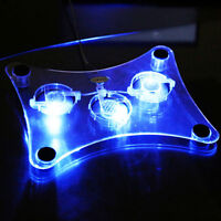 New USB Blue LED Light 3-Fan Cooler Cooling Pad Stand for Laptop PC Notebook 15""
