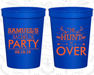 Bachelor Party Favor Cups Cup Favors (40084) Hunting, The Hunt Is Over