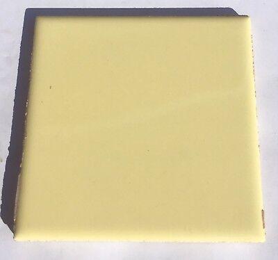 Vintage Saffron Yellow 4x4 Ceramic Tile /'USCT CO/'-1 Sq Ft Salvaged