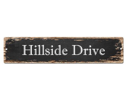 SP0652 HILLSIDE DRIVE Street Sign Home Cafe Store Shop Bar Chic Decor Gift