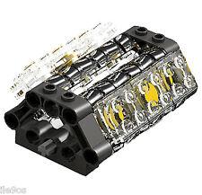 Lego V6 TRANSPARENT Engine (technic,piston,cylinder,block,motor,car,truck)