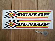 DUNLOP Klassisch Überprüfung & Streifen 9in Paar Auto & Fahrrad Sticker