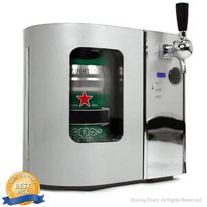 New-EdgeStar-Mini-Keg-Draft-Beer-Dispenser-Beer-Cooler-Stainless-Steel