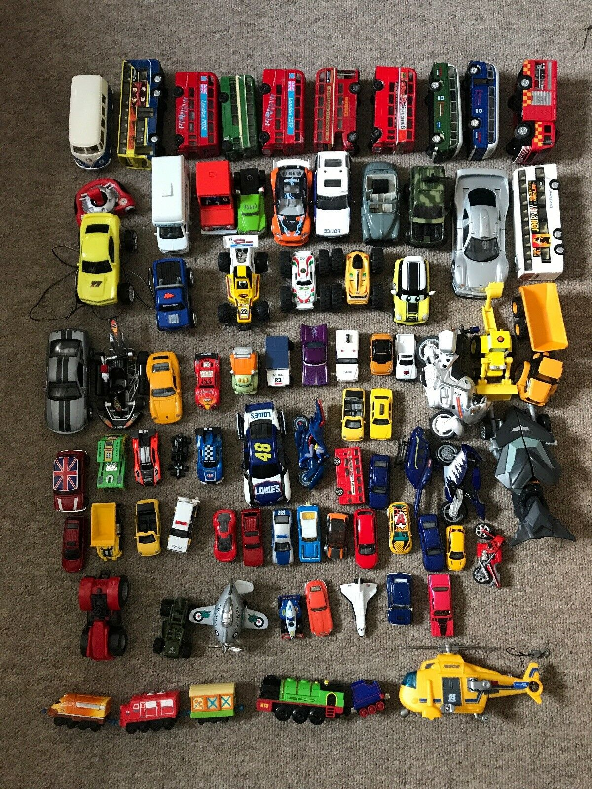 80x Job Lot of Mixed Cars and Vehicles; Matchbox And Others Good Condition