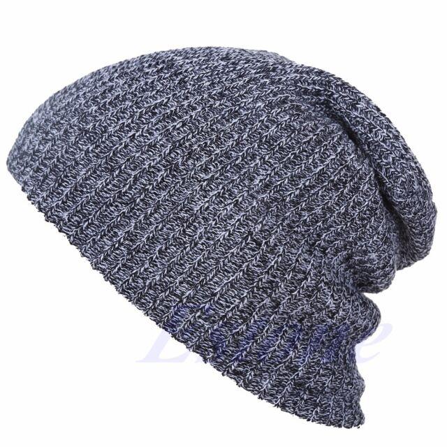 Men's Women's Knit Baggy Beanie Oversize Winter Hat Ski Slouchy Chic Cap Skull