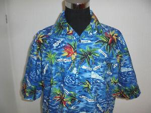 vintage-CRUISER-CASUAL-Hawaii-Hemd-hawaiihemd-90er-Baumwolle-shirt-surf-XXL