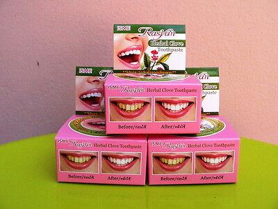 3 x 25g Rasyan isme herbal clove whitening toothpaste teeth anti bacteria