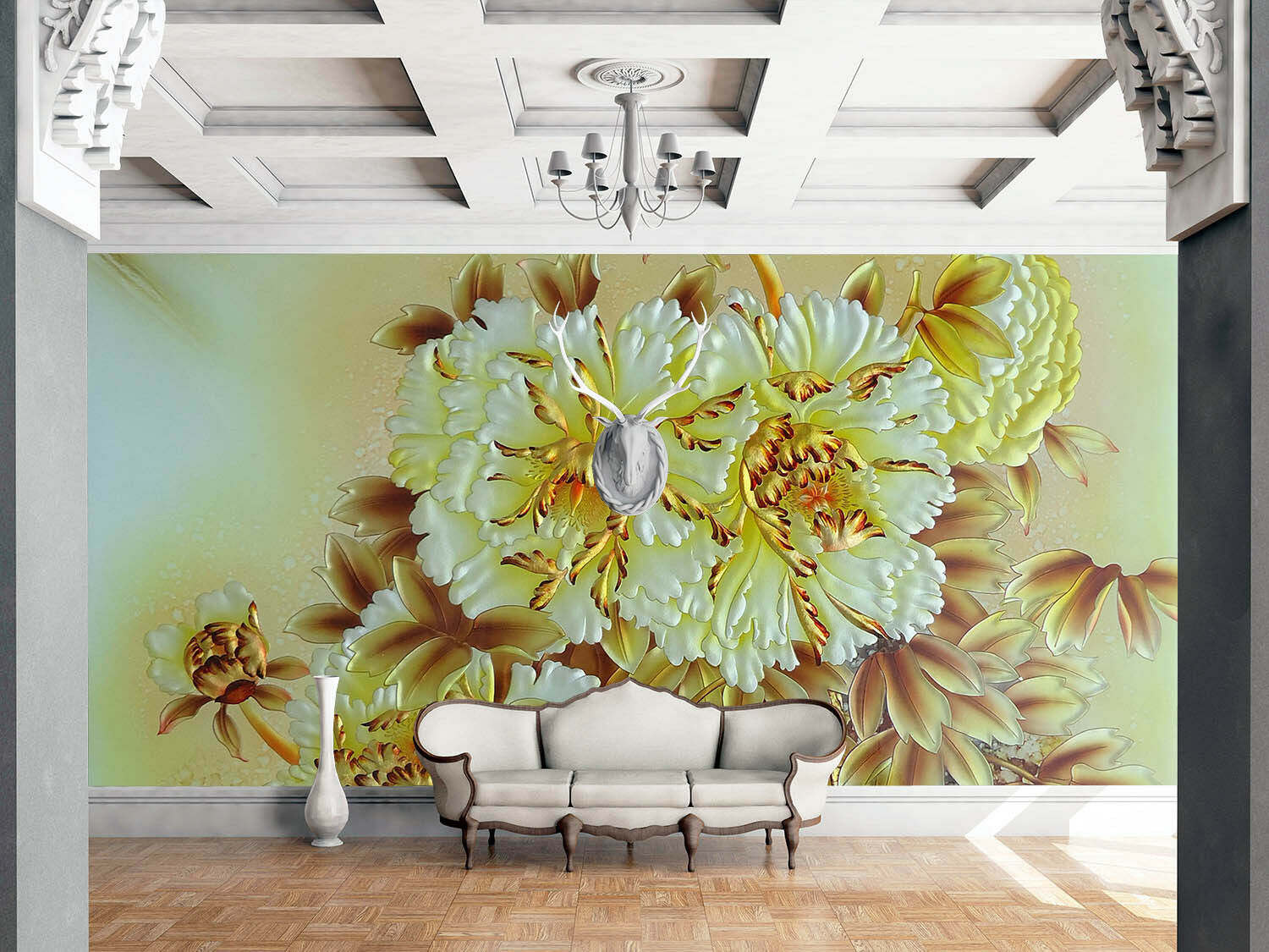 3D Luxurious Blooming Plants659 Wall Paper Wall Print Decal Wall AJ Wall Paper