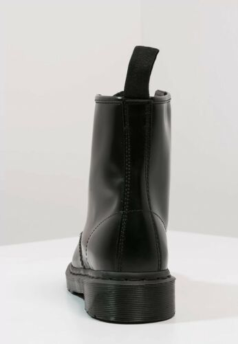 Martens Men/'s 1460 Mono 8-Eye Gothic Black Smooth Leather Boot Shoes NEW Dr