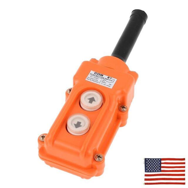 Rainproof Hoist Crane Push Button Switch Pendant Control Station Up Down COB-21