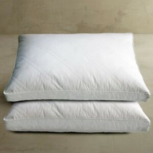 White-Goose-Feather-Down-Jumbo-Pillow-2-Pack-Sleeping-Pillows-100-Cotton-Cover