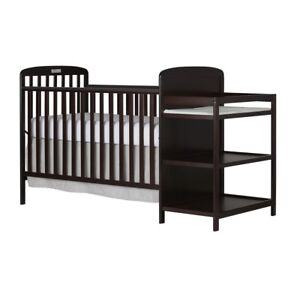 Dream On Me 4 In 1 Full Size Crib And Changing Table Combo Espresso