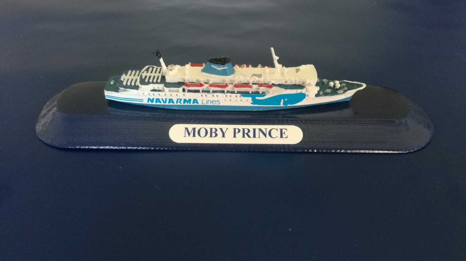 MOBY PRINCE ex Koningin Juliana modellino nave scala 1 1250 MOBY- Navarma Lines