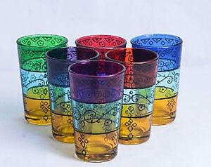 moroccan tea glasses set of 6 cups handmade teapots beautiful gift moroccan