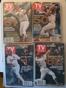 Mark McGwire 1998 TV GUIDE Set of 4 Collectible Covers Home run celebration