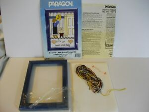 Paragon-Tidy-Boy-Pattern-8089-Counted-Cross-Stitch-Kit-Complete-1986