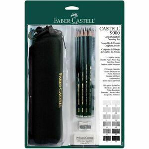 Faber-Castell-9000-Artist-Graphite-Drawing-Set-with-Bag-Set-of-12