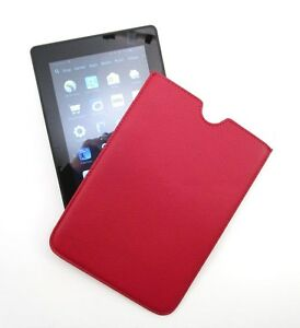 383dfd192b43 Details about ILI Red Leather KINDLE Sleeve Protective Case Cover Holder ~  New