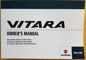 genuine suzuki vitara owners manual handbook 2015 2018 pack a 732 ebay rh ebay com suzuki vitara owners manual 2016 vitara owners manual pdf