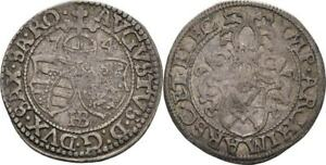 Penny-1574-Sassonia-Dresda-August-i-1553-1586-Argento-T251