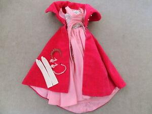 Barbie-1960s-Clothes-VINTAGE-Bendable-Leg-SOPHISTICATED-LADY-Pink-Velvet-Crown