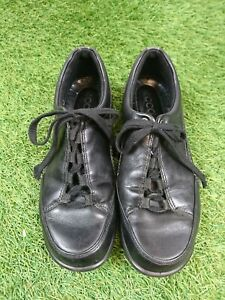 Ecco-Black-Leather-Comfort-Lace-Up-Shoes-Size-UK4-37