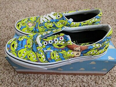 mar Mediterráneo algun lado Noche  NEW Vans Era Toy Story 4 Aliens Skate Shoe Glow In Dark Pizza Planet Mens  9.5 11 | eBay