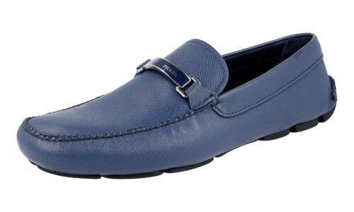 Shoes Bluette 10 2dd099 5 Prada Nuovo Logo 44 Luxury 44 Saffiano Loafer nwRYICa