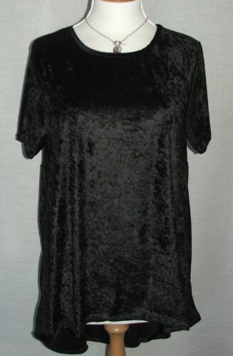 Ex SIMPLY BE NEW BLACK Velvet Top with DIPPED Back Sizes 14 to 20