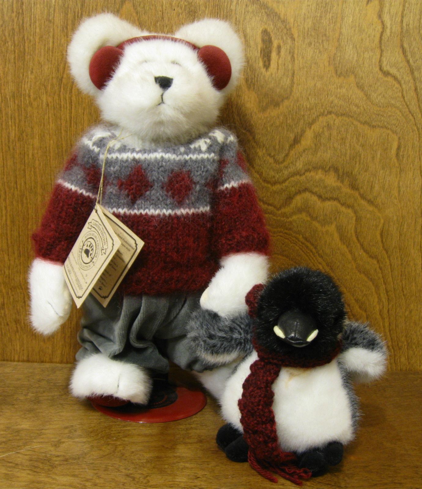 Boyds Uptown Bears Plush  900206 BREVEN B BEARSKI & WILLIE WADDLEWALK w/ Stand,