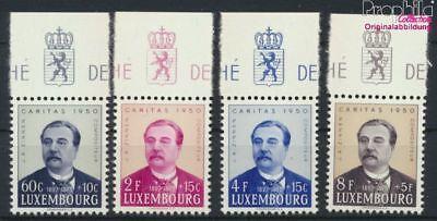 kompl.ausg. Gehorsam Luxemburg 474-477 9256436 Postfrisch 1950 Caritas