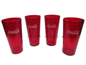 Image Is Loading Coca Cola Red Plastic Tumblers 24 Oz Set