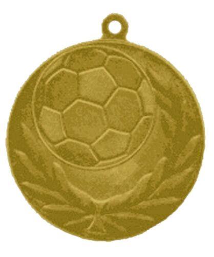 Pokale & Preise 25er Set 60mm Fussball Medaillen Metall D13C Bronze mit Band nur 24,25 EUR