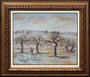 Paul-Emile-Pissarro-Pastel-Painting-Original-Signed-Landscape-Authentic-Artwork