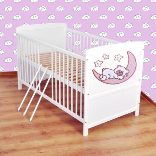 Juniorbett umbaubar 140x70 Weiß nr 6 Babybett  Kinderbett