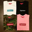 SUPREME BOX LOGO Classic pure color cotton T-shirt pocket shirt S-XXL-NEW !!!