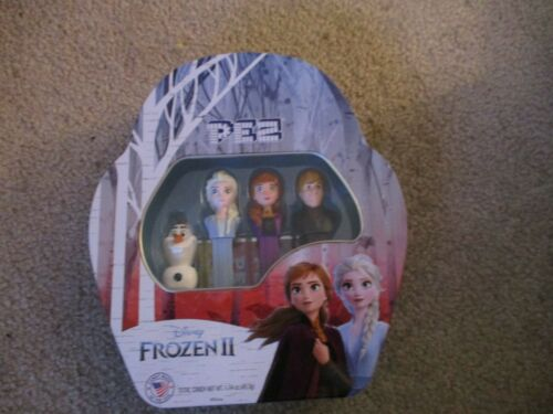 Details about  /Disney Frozen II  4 Pez Dispensers in Collector Metal Tin  Elsa Olaf Anna