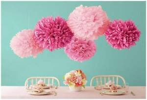 Multi color 4 inch pom poms paper flowers balls wedding birthday image is loading multi color 4 inch pom poms paper flowers mightylinksfo