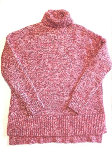 M Pull Chiné J Sz New Rouge Tricoté Crew Nwt Chunky SExqRTYw