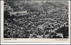 RUDOLSTADT-Thueringen-um-1940-Luftbild-Orig-Fliegeraufnahme-AK-Aero-Bild-Verlag