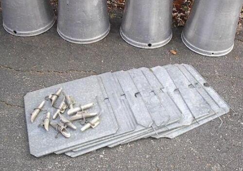 10 MAPLE SYRUP Aluminium Sap BUCKETS 10 Lids Covers 10 Taps Spouts Spiles