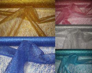 Dekostoff Netzstoff Tüll Stoff Glitzer Glitter Netzgewebe  Meterware 150cm breit