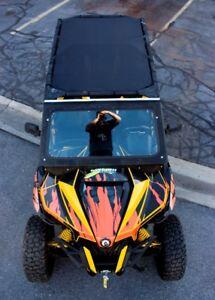 4 Seat 2014-2019 Shade Roof Black Polaris RZR MotoRoof