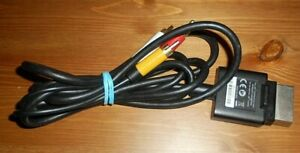 Diligent Microsoft Xbox 360 Slim Noir Av Composite Câble Sous Plomb X821376-001 En Vgwc-afficher Le Titre D'origine