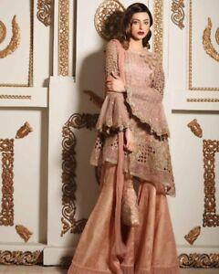 Details about asian indian pakistani wedding party dress Garara Designer  Charisma Maria b