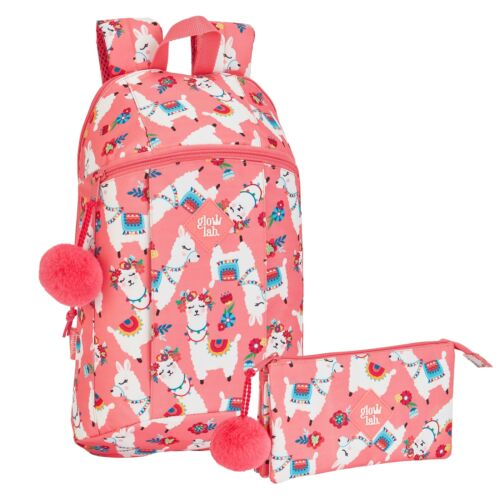 Llama Backpack Girls School Bag Pompom Pencil Case Rucksack Alpaca PREMIUM